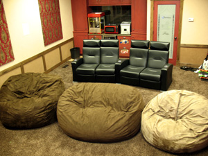 A HOME THEATER ROOM HEAVEN